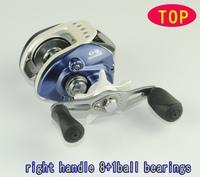 Good quality right handle bait casting reels  fishing reels  fishing tackle 8+1BB