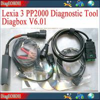 2013 free shipping high quality Lexia 3  PP2000 Peugeot Citroen Diagnostic Tool + Diagbox V6.01