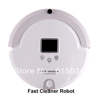 (Free Shipping For Russian Buyer) 4 In 1 Multifunctional Vacuum Robot Cleaner, LCD Screen,Touch Button,Schedule,Virtual Wall