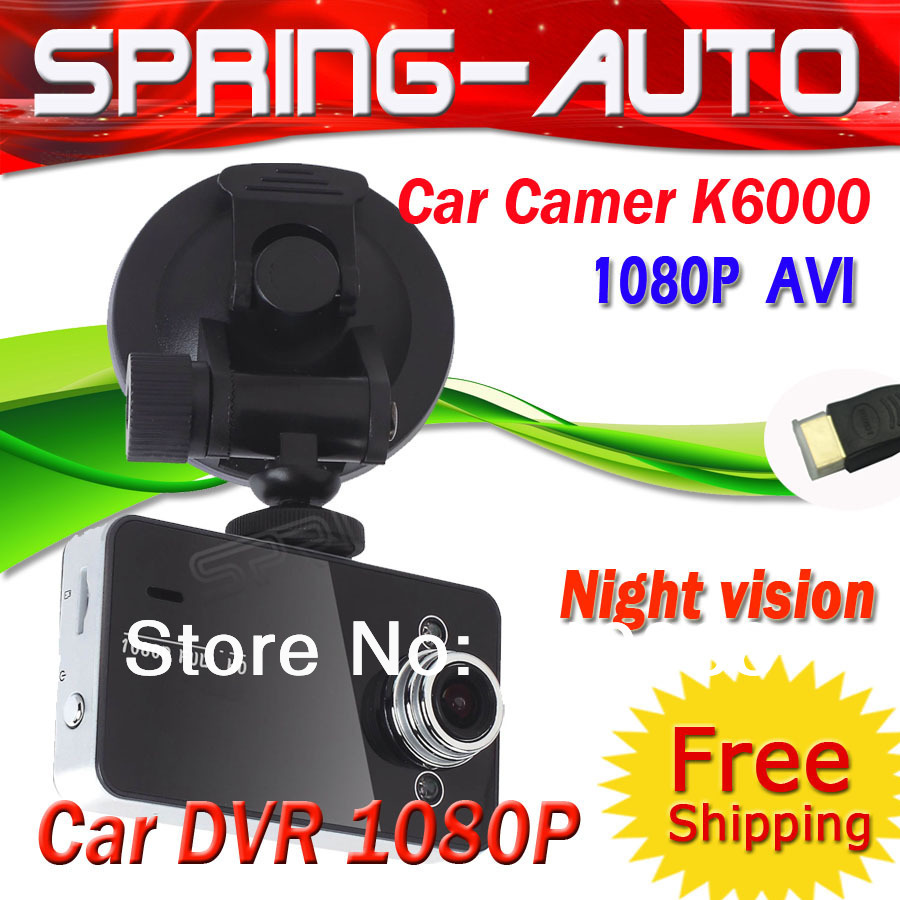 "FREE SHIPPING 1080P Wide Lens Mini CAR DVR K6000 Black box 1080P, 2.7"" TFT,140+ Lens AVI,4X Zoom,Night vision,HDMI+USB(China (Mainland))"