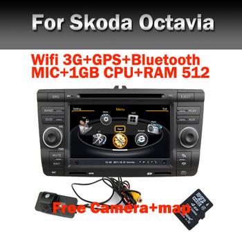 Free shipping 2 Din Car DVD for Skoda Octavia  with 3G/GPS/BT/TV/RDS/USB/SD/DVD/CD/IPOD/Steering wheel control