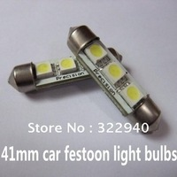 Free Shipping 20pcs 41mm 3 SMD 5050 LED Festoon Dome white color Car Bulbs light