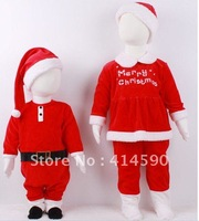 Free shipping Baby romper + hat Kids Christmas clothing cotton boy girl Sanda dress Masquerade wholesaler new arrival hot sales