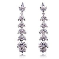 A88430 Fashion color/garnet red/black/white  zircon 18kt white gold filled earrings free gift Zircon earrings
