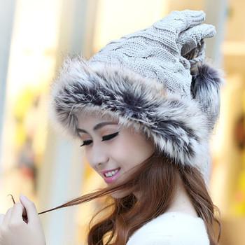 Free shipping 2015 Winter women's hat Rabbit's hair cap millinery winter casual hat D872