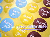 Free shipping (1200pcs/lot) label paper THANK YOU adhesive Seal sticker wholesale Label Sticker