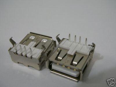 1000 USB A Female Right-Angle PCB Mount Jack RoHS 33(China (Mainland))