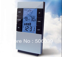 free shipping 3210 big screen multifunctional electronic hygrometer table clock zone clock luminous lamp alarm clock