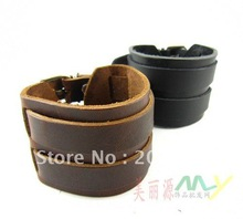 Free shipping New Fashion cow Leather bracelets set,Punk,cowboy, 2Bracelet+set, wholesale & ratail(China (Mainland))