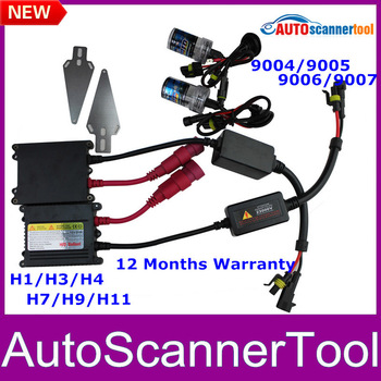 2013 Newest Headlights H1 H3 H4 H7 H8 H10 9004 9005 9006 9007 HID KIT SET HID XENON SYSTEM 35W 6000K for Multi-brands