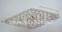 NEW STYLE Free Shipping 3PCS/LOTS women's hotsale fashion bracelet  best quality rhinestone bracelet hollow out 111405