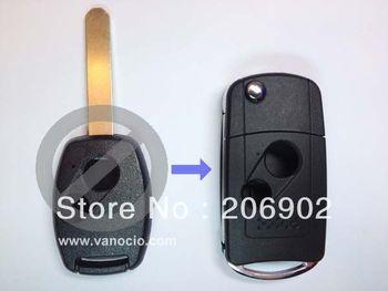 for Honda Fit , Odyssey , CRV 2 button folding remote key housing shell