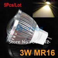 5Pcs/Lot 12V 3W MR16 Warm White COB LED Lamp Bulb Spotlight Spot Light  3092