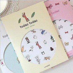 Wholesale Free shipping Korea popular mini portable Cute Cartoon Cosmetic/make up Mirror small pocket mirrors