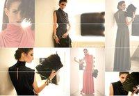 2014 Rushed Wedding Dress Vestido Vestido De Festa Hot! Graceful Women Lady Sleeveless Stand Collar Party Evening Skirt Dress024