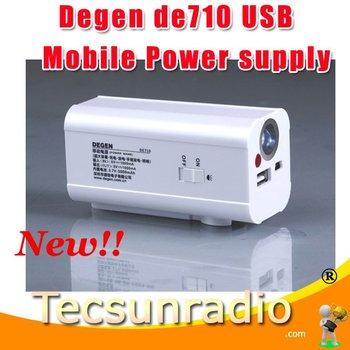 Hot sale three in one Degen de710 USB Mobile Power supply lighting Generating recharging