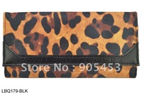 Free shipping! 2014 Leopard Grain Fashion Coin Purse  women genuine  leather wallet   LBQ179