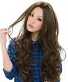 3 Color Stylish Lady Wavy Wigs lace Wig human hair wigs