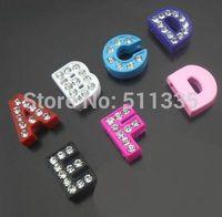 New Arrival 130pcs 8mm A-Z Enamel slide letters fit for 8mm bracelet DIY Alphabet
