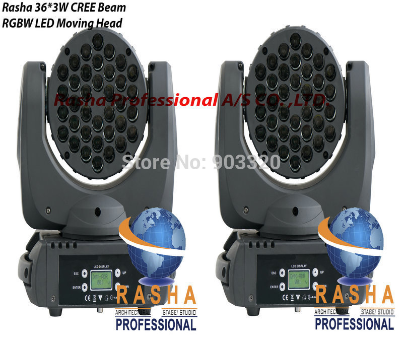 Freeshipping NEW INNO COLOR LED BEAM- 4in1 RGBW 36*3W LED Moving Head Beam+Wash Light, American DJ Light,Stage Light(China (Mainland))