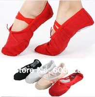 4 color Professional flats ballet shoes for women dance shoes  brand peep toes DECS-0742