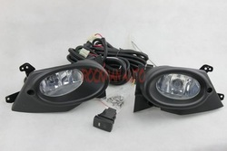 Fog Lights for Honda Fit/Jazz Sport Type 2008 Full Set With Switch Wire Harness Accessories H11 Helogen Bulbs Free Shipping(China (Mainland))