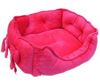 Free shipping, Luxury pink cute square dog/cat/rabbit mat bed nest , size S/L color pink/red/golden  100% cotton