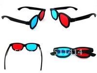 wholesale 5pcs/lot Red Blue Plastic 3 D Dimensional 3D Glasses + Free shipping