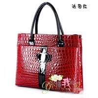 NALULA Luxury OL Lady Women Crocodile Pattern Hobo Handbag Tote 2013 Fashion Bags Lady PU Leather Shoulder Bag Elegant HC1269