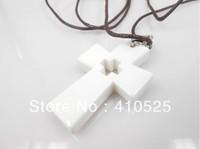White Cross Style Quantum Scalar Energy Pendant Necklace