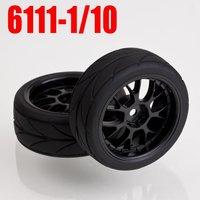 60PCS=30pairs  x Tire 6111 1/10 ON ROAD RC CAR Wheel  Rim & Tyre 1/10 Car Tires
