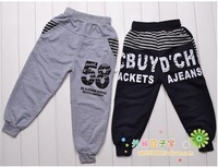 2014 spring and autumn children's pants boys and girls fashion leisure trousers baby clothing 2-7 years