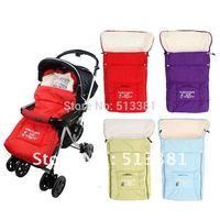 Free Ship 2014 Hot Baby Stroller Sleeping Bags Baby Sleepsacks for Stroller Cart Basket Infant Fleebag Cotton Thick for Winter