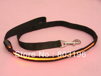 Free Shipping Width 2.5cm Black Band LED Light Up Dog leashes Flashing Dog leads 50PCS/Lot