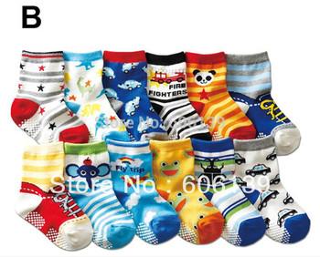new  pure cotton children socks antiskid child socks baby floor socks 20 pair/lot free shipping