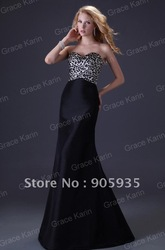 Special! Free Shipping 1pc Women Sexy Strapless Leopard And Black Party Gown Prom Ball Formal Evening Dress, 8 Size CL3423(China (Mainland))