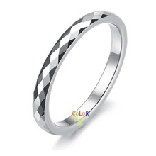 4MM Lady Mens Tungsten Ring Multi Faced Wedding Band Promise Gift New W/ Box