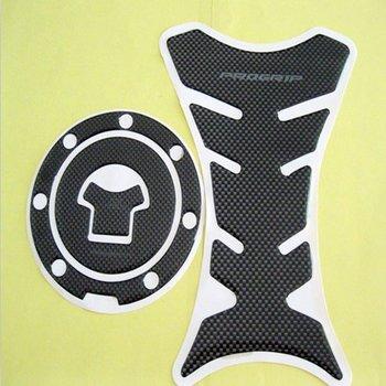 Carbon Fiber Fuel Tank Pad + Gas Cap Cover For Honda