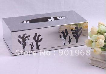stainless steel tissue box-napkin box-paper box-tissue holder-napkin holder