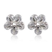 A88412 Fashion garnet red/purple zircon 18kt white gold filled Stud earrings free gift Zircon earrings