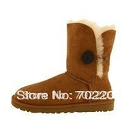 Free shipping Button Boot 5803 Snow Boots Fashion Winter Boots Women's Shoes