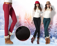 free shipping new arrival women fashion thick and  plus velvet slim pants / leggings / jeans / trousers for winter, keep warm