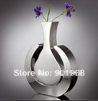 Home office hotelroom restaurant decor stainless steel flower pot-flower vase-vase