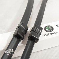 Free shipping car wiper blades for skoda octavia, Soft Rubber WindShield Wiper Blade 2pcs/PAIR,deflector window