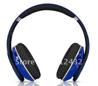 Headphones headset earphones noise canceling funcion best quality blue color with retail package ems freeshipping