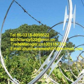 electro galvanized spiral razor barbed wire mesh  (CBT65 blade)
