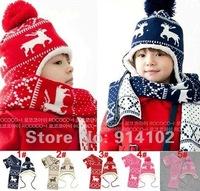 Children's hat magic fawn add wool earmuffs children sleeve cap