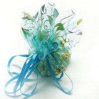 Free shipping 300 pcs/lot wedding jewelry bags silk organza packaging pouche Christmas gift bag 26cm BX057