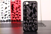 Hot sale Diamond Pattern mobile phone hard Case Cover for iphone 5 Free shipping EMS/DHL  50pcs/lot