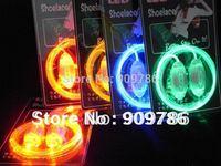 Promotion Blister packing Best Price Disco Flash light up 3th LED Shoelace luminous shoelace 50pcs/lot(25pair)